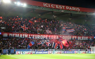 Le Paris Saint-Germain face aux clubs Allemands Côté Tribunes.