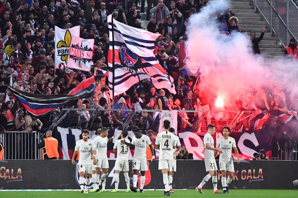 Bordeaux - Paris Saint-Germain. 02 Décembre 2018. ( Collectif Ultras Paris )