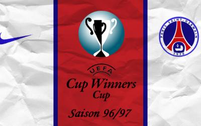 Le PSG lors de la Coupes Des Coupes, saison 96/97
