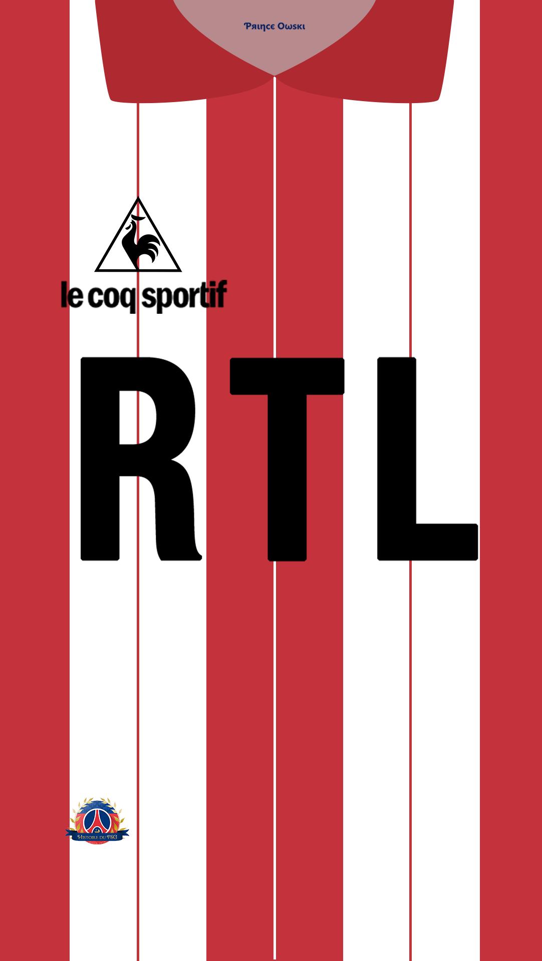 Fond d'ecran maillot PSG v2 gardien 83 84