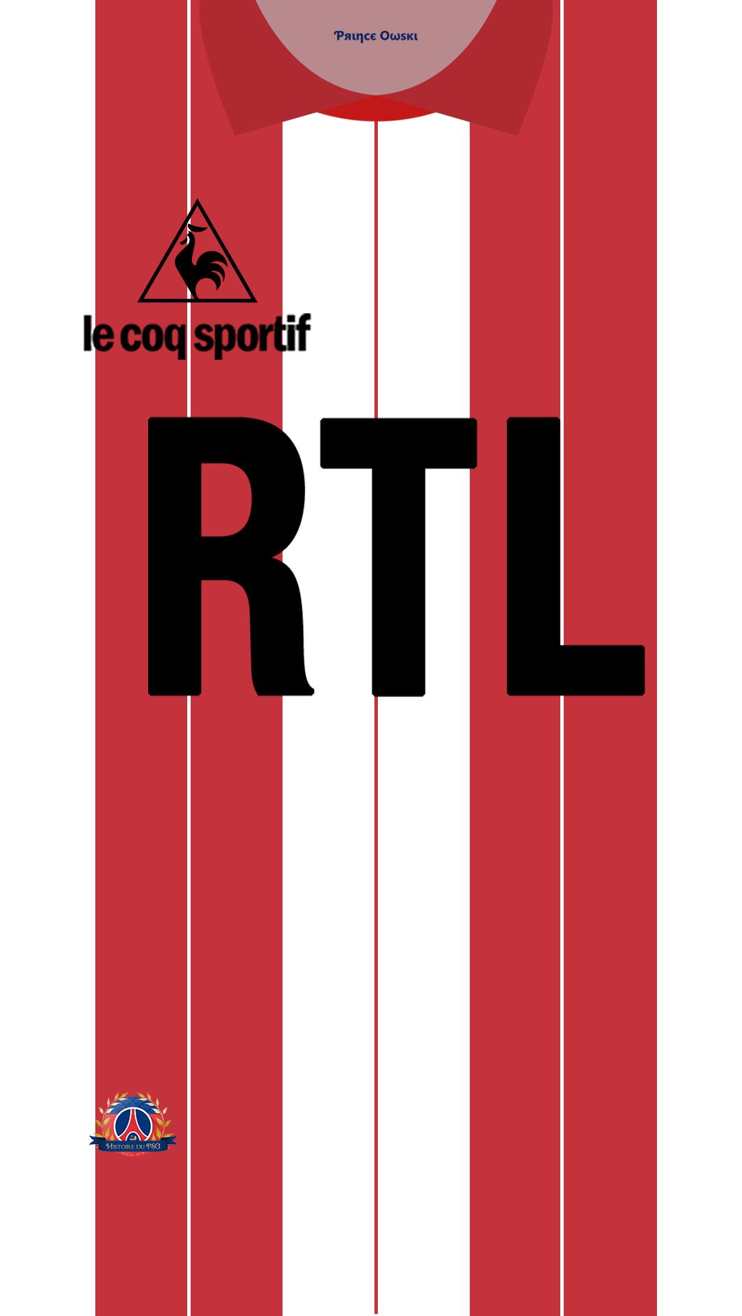 Fond d'ecran maillot PSG v2 gardien 84 85