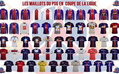 Les maillots du PSG en Coupe de la Ligue